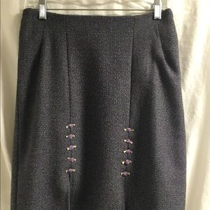 Handmade tweed skirt with great details!